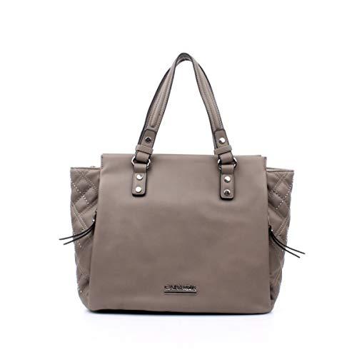 CafèNoir Borse a mano Shopping fianco con borchiette taupe