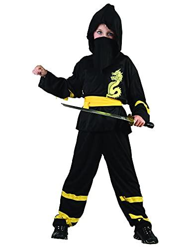 DEGUISE TOI - Déguisement Ninja Ceinture Jaune garçon - L 10-12 Ans (130-140 cm)