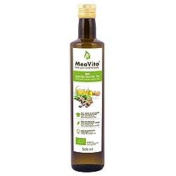 MeaVita Bio Sacha Inchi Öl, 100% kaltgepresst & rein, 1er Pack (1 x 500 ml)