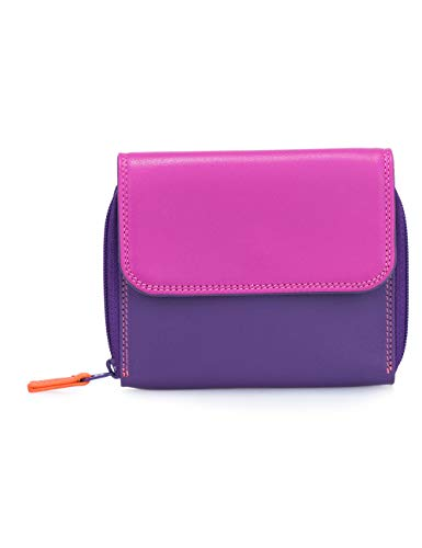 portafoglio donna in pelle - mywalit - zip around wallet tri-fold - 1239-75 - sangria multi