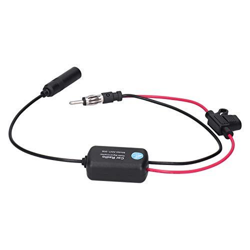Amplificador de señal de Radio, Amplificador de señal de Radio FM Ahorro de costos Amplificador de señal de Radio Am Material de abs portátil Antena de señal de Radio de Coche para Radio