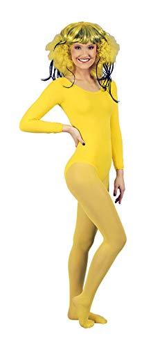 K842507-36-38 gelb Profi Body Nylon 140 Den Blickdicht Tanz Sport Garde Kostüm Gr.36-38