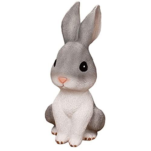 CHENMAO Hucha Conejo de Pascua Piggy Bank Money Bank Ahorro Pot Moneda Almacenamiento Contenedor Capbit Figuras para Decoraciones...