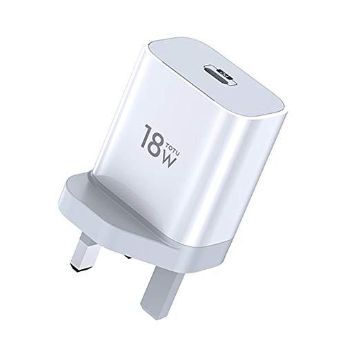 RUNNA Durable Serie Minimal Series CACQ-05 PD 18W Solo Cargador de Viaje por Puerto USB-C/Type-C, Enchufe de la UE (Color : Color2)