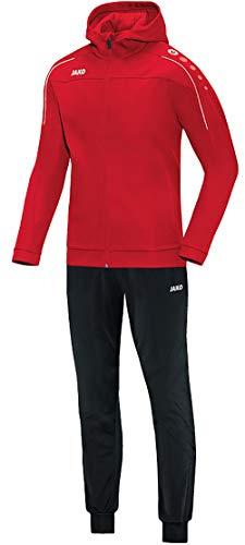 JAKO Herren Classico mit Kapuze Trainingsanzug Polyester, rot, XL