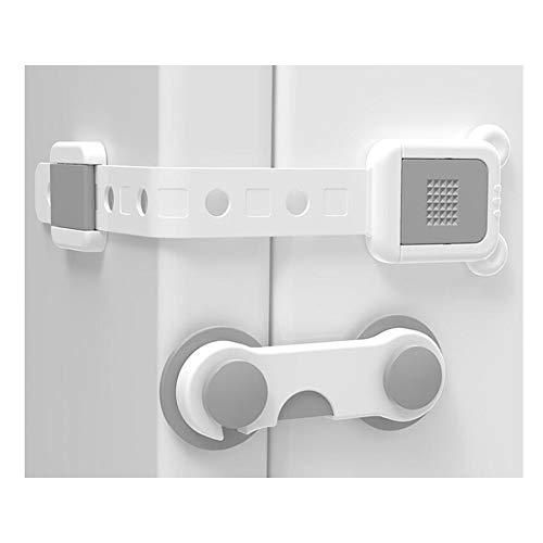 YUMEIGE Veiligheidssloten Baby Proofing kabinet Lock, Long Lock + Set Lock, baby Anti-snuifje Hand, Bouw & Vastgoed Guards, instelbare lengte, eenvoudig te installeren en te verwijderen, kindveilige V
