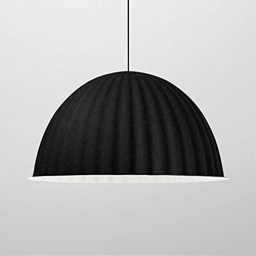 kaige Araña/Lámpara Colgante Pendientes de la luz /, Arte Iluminación Barra Dormitorio Mesa de Comedor pequeña lámpara Negro Grande, Boss LV, 32 Veces;20 centímetros WKY (Size : 60 × 35cm)