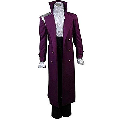 Full Purple Rain Prince Rogers Nelson Cosplay Costume for Adults. Male and Female Separate Sizes from S to XXL