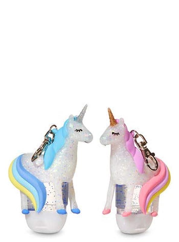 医薬ペルセウスバラ色【Bath&Body Works/バス&ボディワークス】 抗菌ハンドジェルホルダー 2個セット ユニコーン Pocketbac Holders Be My BFF Unicorns [並行輸入品]