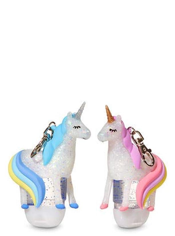 豊富草記念日【Bath&Body Works/バス&ボディワークス】 抗菌ハンドジェルホルダー 2個セット ユニコーン Pocketbac Holders Be My BFF Unicorns [並行輸入品]