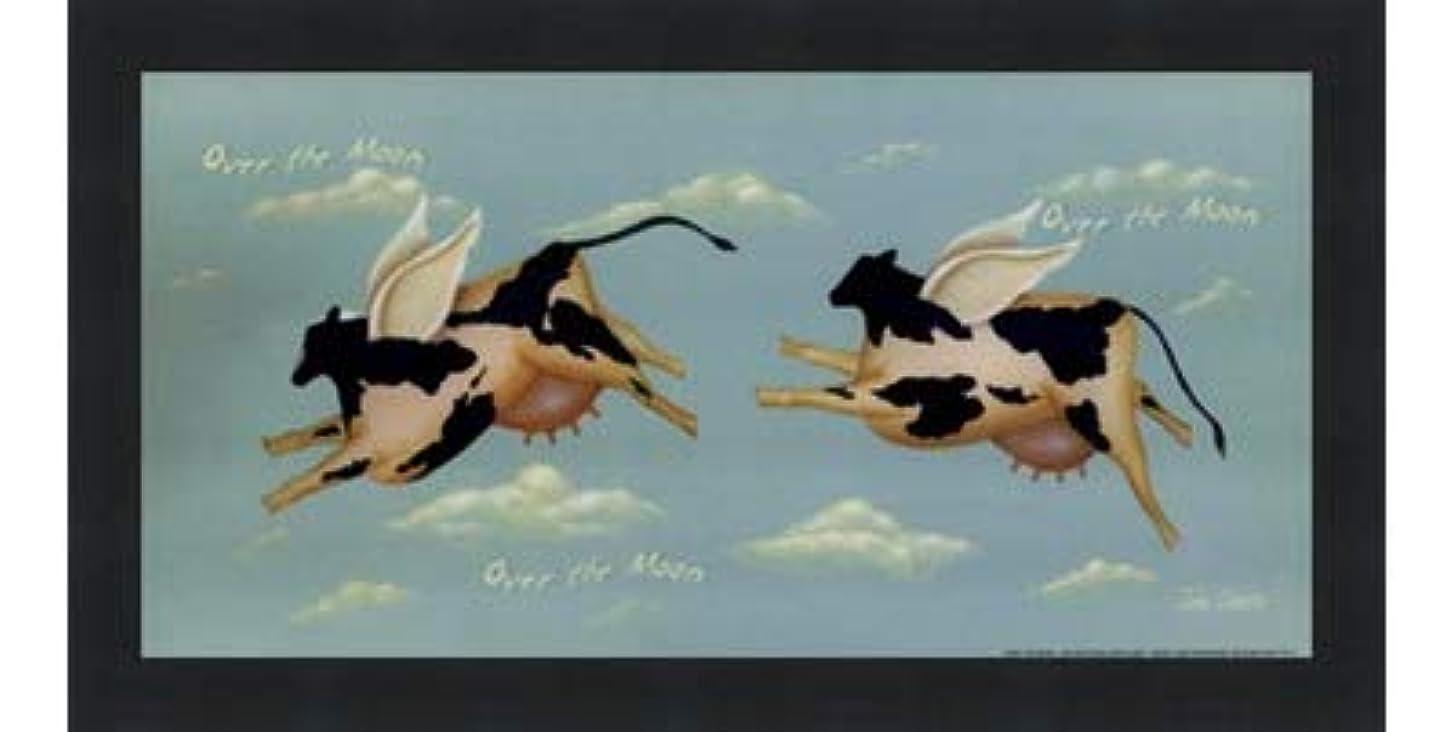 してはいけないマーチャンダイジング放牧するOver the Moon by John Sliney?–?12?x 6インチ?–?アートプリントポスター LE_614119-F101-12x6