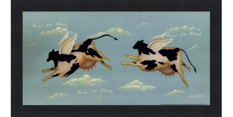 レルム花に水をやる下線Over the Moon by John Sliney?–?12?x 6インチ?–?アートプリントポスター LE_614119-F101-12x6