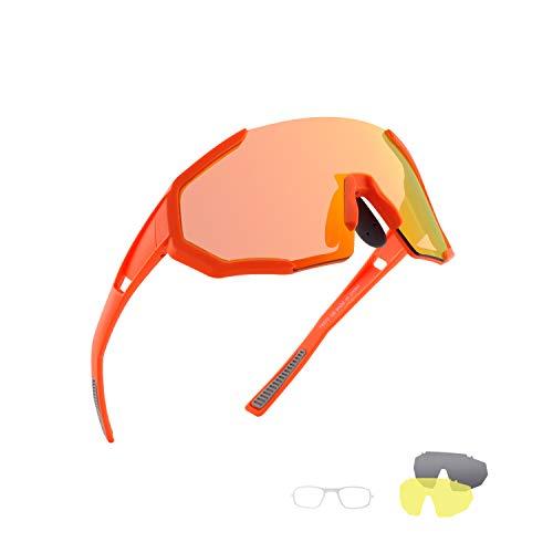 OULAIQI Polarized Sports Sunglasses Biking Sunglasses For Man Women ,UV400 For Cycling Baseball Fishing Running Golf Full Screen Polarized Fishing Sunglasses