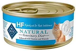 Blue Buffalo Natural Veterinary Diet HF Hydrolyzed for Food Intolerance Grain-Free Canned Cat Food 12/5.5 oz