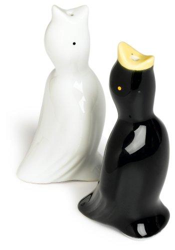 R&M International Black and White Pie Bird Vents, Set of 2