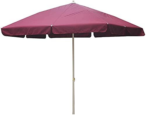 Parasol al Aire Libre, sombrillas rectangulares de jardín, Paraguas Grandes, Paraguas Plegables comerciales Grandes con Postes de Acero y Costillas, UPF50 + protección e Impermeable (Color : Red)