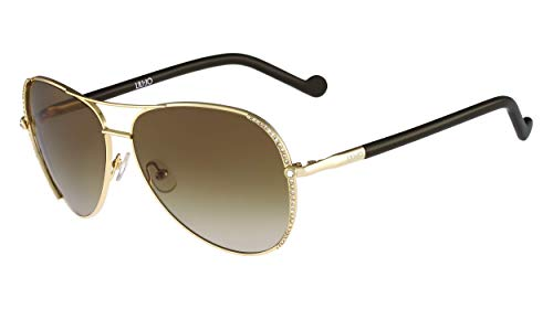 Liu Jo Damen LJ102SR 717 59 Sonnenbrille, Gold (Shiny Gold)