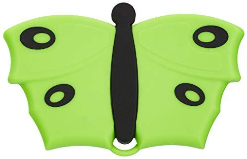 V7 Hand-Bürste, Fusselbürste, Kleider-Bürste, Polster-Bürste, mit V-förmigen Borsten, im Schmetterlings-Look, grün