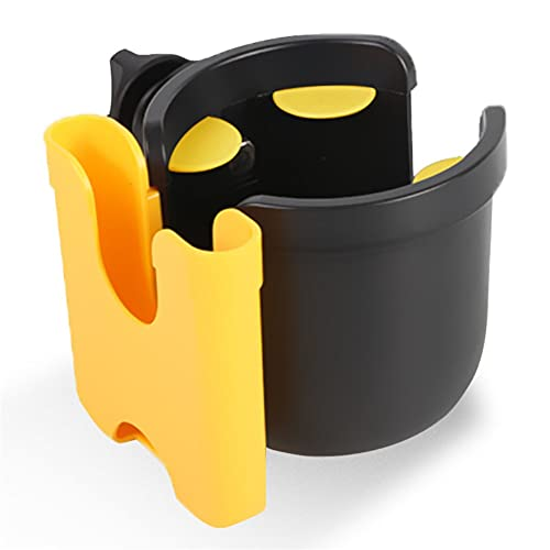 Portavasos Universal para Cochecito Accesorio Organizador de Cochecito,Portavasos Universal 2 en 1 Soporte para Teléfono con Rotación de 360°