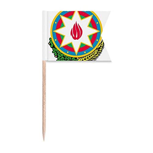 Beauty Gift Baku Aserbaidschan Nationalemblem Markierung für die Kennzeichnung von Zahnstocher-Flaggen