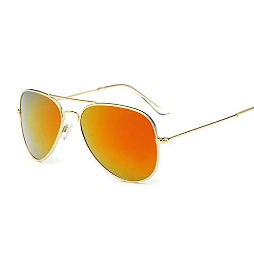 PADQ Gafas de Sol Hombre Montura Hombre Gafas de Sol Moda Espejo UV400 Multi