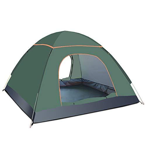 3-4 Personas Anti-UV Impermeable Pop Up Playa Campamento al aire libre Tienda (verde oscuro)