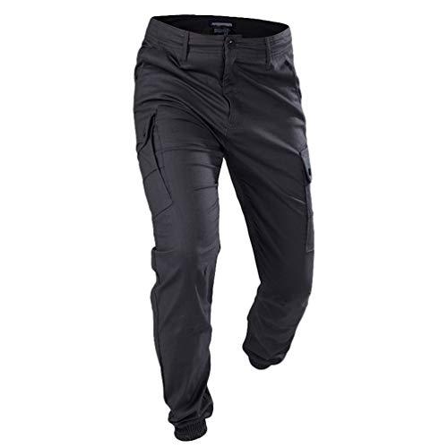 Mieuid multi tactische broek voor heren, outdoor tassen, effen chic zacht, ademend, duurzaam, krasbestendig, wandelen, trekking, camping, cargo, werk, joggingbroek