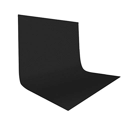 UTEBIT 10x12ft Black Photo Backdrop Cloth Portable Collapsible 3x3.6m Black Polyester Background Sheet for Video Studio Photography YouTube