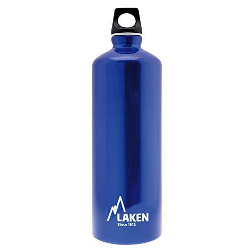 Laken Futura Borraccia di Alluminio, Bottiglia d'acqua con Apertura Stretta e Tappo a Vite con Anello 1L, Blu