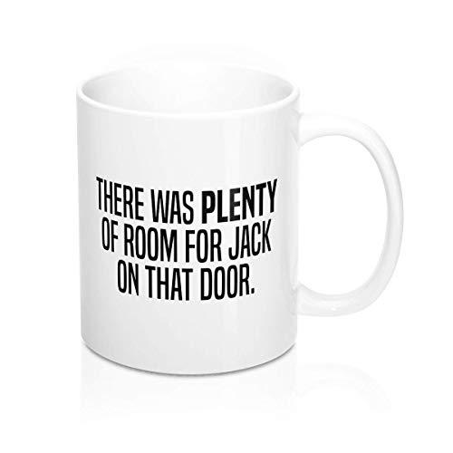 Taza divertida con texto 'Plenty of Room', regalo para him gift for her titanic meme Mug Mug Mug Oficina