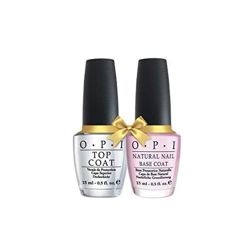 of nail base coats OPI Nail Polish Top Coat, Protective High-Gloss Shine, 0.5 Fl Oz, OPI Nail Polish Base Coat, Natural Nail Polish Base Coat, 0.5 Fl Oz