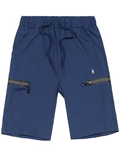 Little Donkey Andy Damen-Bermuda-Shorts, sehr dehnbar, schnell trocknend, leicht, mit Kordelzug, Reißverschlusstasche, Wandern, Reisen, Workout, Damen, navy, Small