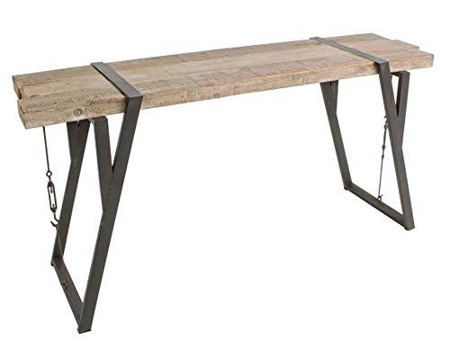 PEGANE Console en Bois de pin et Fer - Dim : L 53 x P 44 x H 76 cm