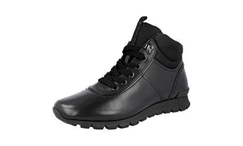 Prada Herren Schwarz Leder High-Top Sneaker 4T3040 43.5 / UK 9.5