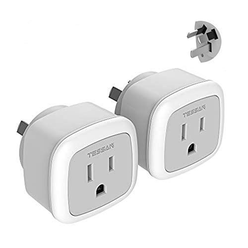 China New Zealand Australia Power Plug Adapter, TESSAN Travel Adaptor for US to Argentina Fiji, Type I Australian Outlet Charger, 2 Pack