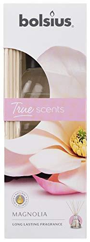 Bolsius True Moods & True Scents Geurstokjes, magnolia, 45 ml, geurolie, kleurloos, eenheidsmaat