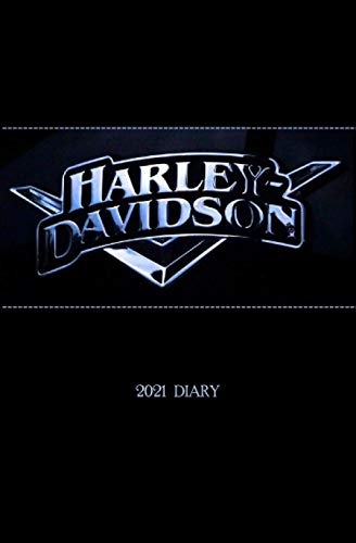 HARLEY DAVIDSON LOGO 2021 PLANNER DIARY: WEEKLY SCHEDULE PLANNER DIARY, compact 2021 agenda organizer, purse or backpack size, everything you need in one book, ideal for men women who love a harley