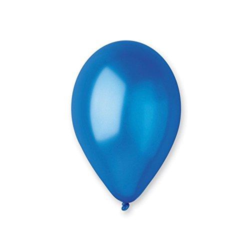 10 ballons nacres bleu roi