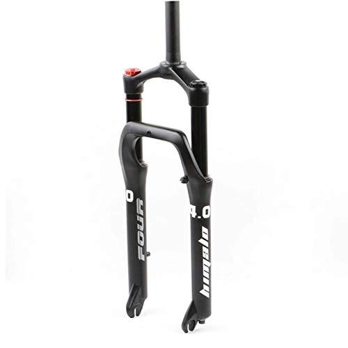 LLGHT Forcella Anteriore Bici Forcella per Bicicletta BMX 24 Pollici MTB Fat/Beach Mountain Bike Escursione QR 120mm Blocco d'Aria Forcelle Ammortizzate per Bici per Pneumatici da 4.0