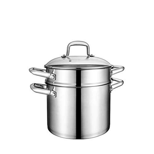 Pot À Soupe 304 En Acier Inoxydable Épaississant Double Fond Filtre Soupe Pâtes Cuisinière À Gaz Universal Ménage Soupe Lait Pot