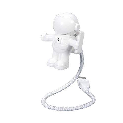YaptheS Estilo Creativo Astronauta Astronauta Flexible USB Mini LED de luz de la lámpara para el Ordenador portátil del Cuaderno de la luz Blanca luz de la Noche de los hogares