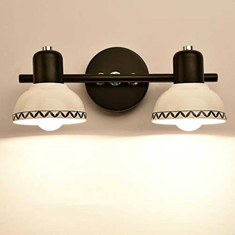 American Style Keramik Led-Spiegel Vorne Licht Badezimmer Toiletten Schminktisch Schminkspiegel Schaltschrankleuchten Gang Lampen Und Laternen (Farbe  Bltter-M)