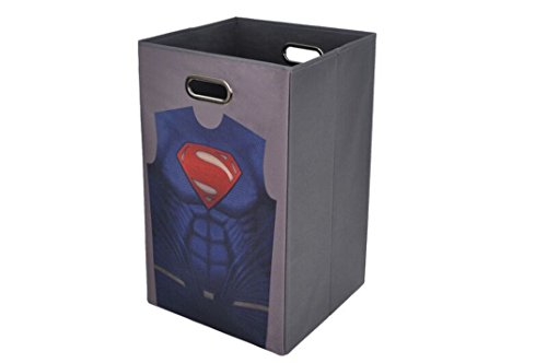 Modern Littles Batman vs Superman Grey Folding Laundry Bin
