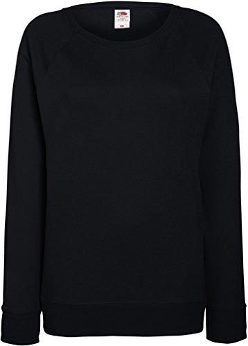 Damen Lightweight Raglan Sweat - In vielen tollen Farben Farbe Schwarz Größe L