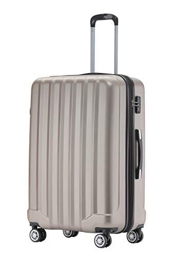 BEIBYE TSA-Schloß 2080 Hangepäck Zwillingsrollen neu Reisekoffer Koffer Trolley Hartschale Set-XL-L-M(Boardcase) (Champagner, XL)