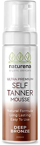 Naturena Self Tanner Tanning Mousse with Organic & Natural...