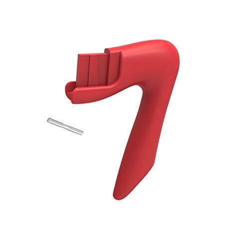 PEDRINI Ersatz-Griff für Moka Express, Rot Farbe, halbe und 1 Tasse Kapazität, Nylon, Kaffeemaschine Kompatibel mit Pedrini-Kaffeemaschinenmodellen: Kaffettiera, Aroma, Infinity, Celebration