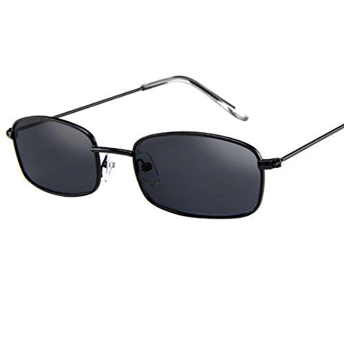 EUZeo,Vintage Glasses Square Shades Small Rectangular Frame UV400 Sunglasses for Women Man Ladies (A)