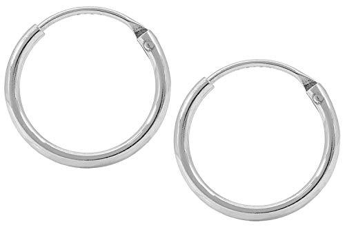 Jukserei Damen Ohrringe Creol Earring Silber - Creole Silber - JUK-ESM101s-S