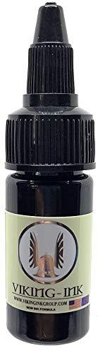 Tinta para tatuaje - BLACK FILL 0.5oz (15ml) - VIKING INK USA - Los mejores colores y negros en tintas para tatuaje del mercado - VEGANAS